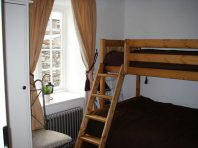 Second bedroom, with double bed and single bunk over - Riverbank Cottage, Self Catering Holiday Cottage, Capel Curig, Snowdonia National Park, North Wales, UK, TheCanoeMan