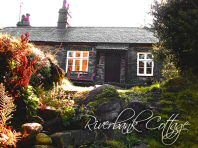Front of the cottage in Autumn - Riverbank Cottage, Self Catering Holiday Cottage, Capel Curig, Snowdonia National Park, North Wales, UK, TheCanoeMan