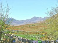 The view of Snowdon from the Garden! - Riverbank Cottage, Self Catering Holiday Cottage, Capel Curig, Snowdonia National Park, North Wales, UK, TheCanoeMan